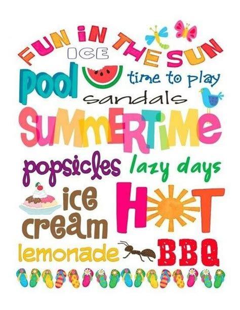 printable summer quotes words that describe summer summer stuff pinterest