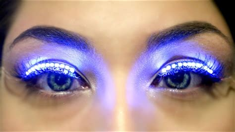 eyelash extension led light led lashes light up lashes beautybyjosiek trending