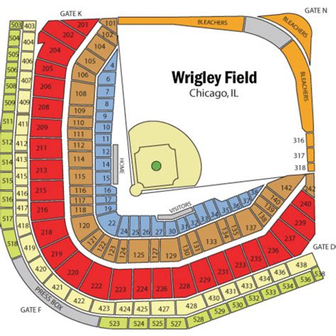 wrigley field seating wrigley field seating chart wrigley field tickets