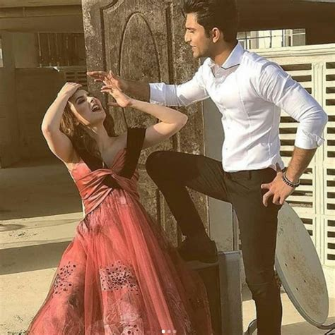 Hania Set hania amir and ahad raza mir on set of their upcoming photoshoot for a magazine