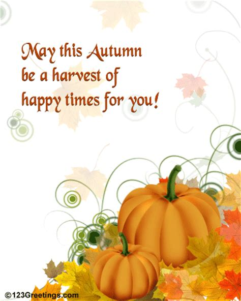 Fall Ecards happy autumn wishes free happy autumn ecards greeting