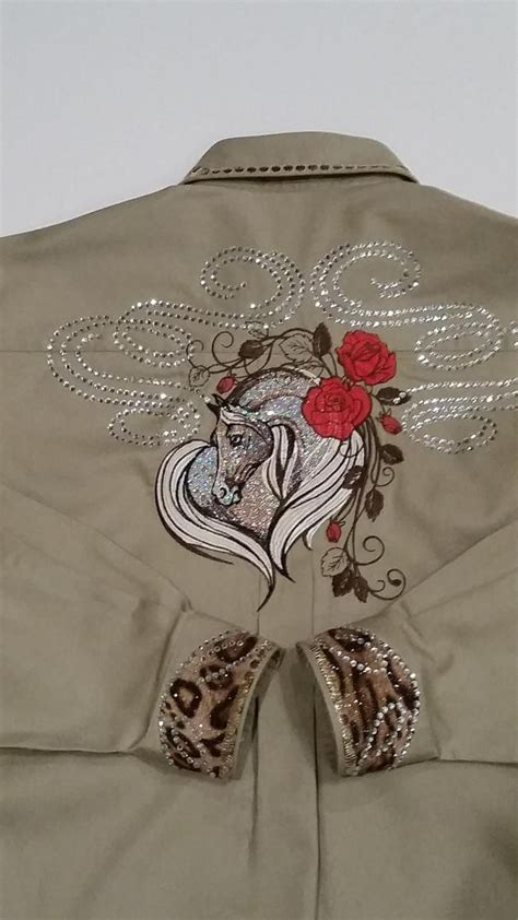 design a western shirt western shirt with horse free embroidery design machine