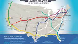 high speed rail map map shows where 220mph trains would go in the u s