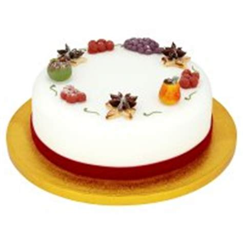 christmas fruit cake with marzipan decorations waitrose