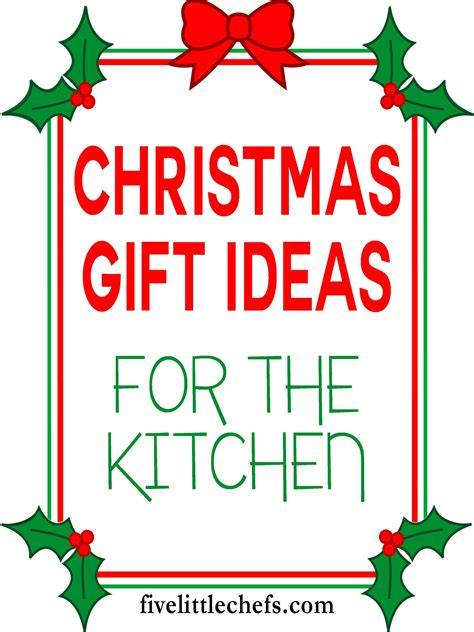 christmas gift ideas for kitchen kitchen gift ideas and giveaway winners five chefs