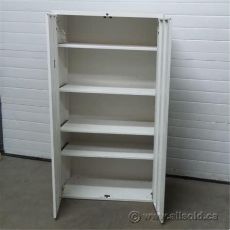 Metal 2 Door Storage Cabinet Teknion White Metal 2 Door Storage Cabinet Adjustable Shelves Allsold Ca Buy Sell Used