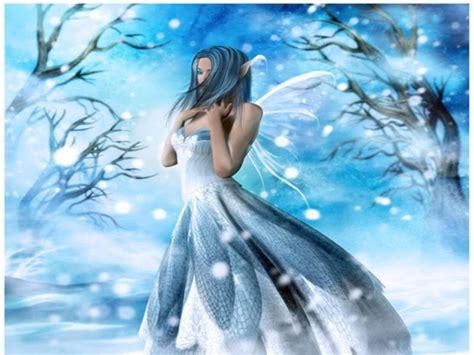 fairytale snow angel fairies fantasy art faerie