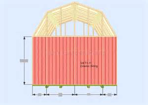 gambrel barn plans gambrel shed plans with loft front back wall siding