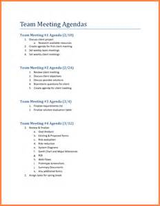 5 team meeting agenda sales report template