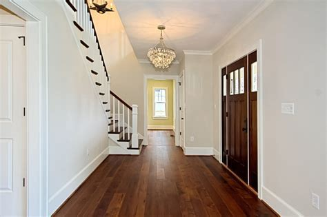 Custom Dark Stained Hickory Flooring   Traditional   Entry