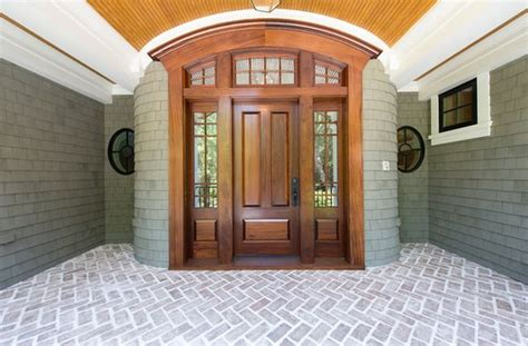 Unique Entryway Ideas Metallic Or Wooden Front Door Which One Do You Prefer