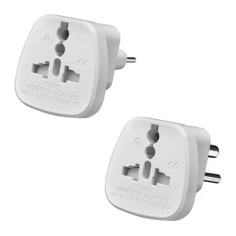 Hv9085 Universal Eu 2 Adapter To 3 Pin Pl Kode Bis9139 1 amos universal uk usa eu to 2 3 pin india pakistan travel adaptor adapter ebay