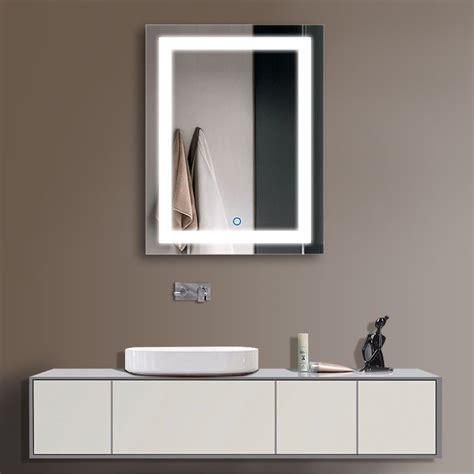 bathroom lighted mirror decoraport vertical led illuminated lighted bathroom wall