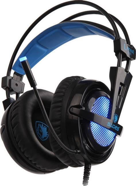 sades gaming headset locust plus usb 7 1ch με 40mm ακουστικά sa 904 baz snif gr