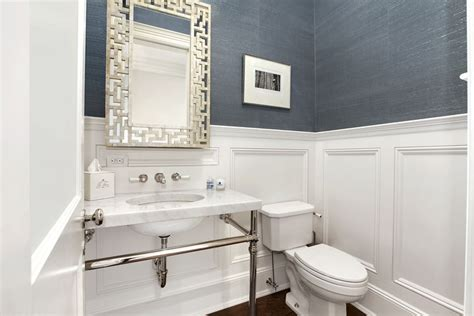 Wainscoting Bathroom Ideas by Powder Room Wainscoting Contemporary Bathroom Carole