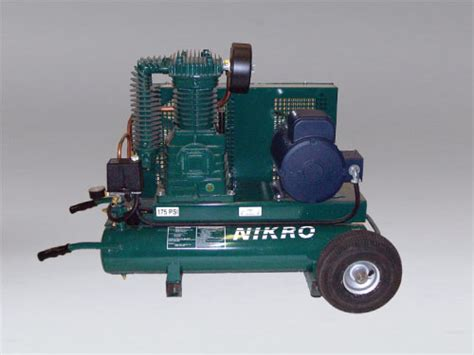860757 5 h p 220v 2 stage 175 psi portable electric compressor