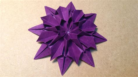 How To Make Japanese Origami - origami flower dahlia