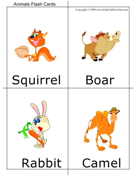 printable animal flashcards for toddlers animal flashcards for preschool and kindergarten