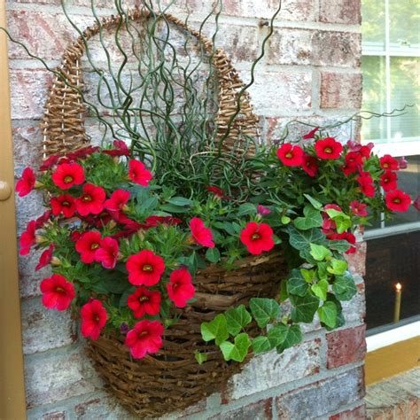 Garden Wall Hanging Baskets Wall Basket For Flowers Wreaths Doors Porch Patio