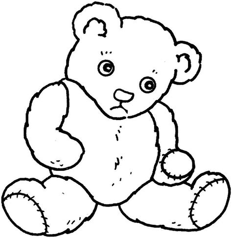 Sad Bear Coloring Pages | teddy bear feeling sad printable coloring pages online
