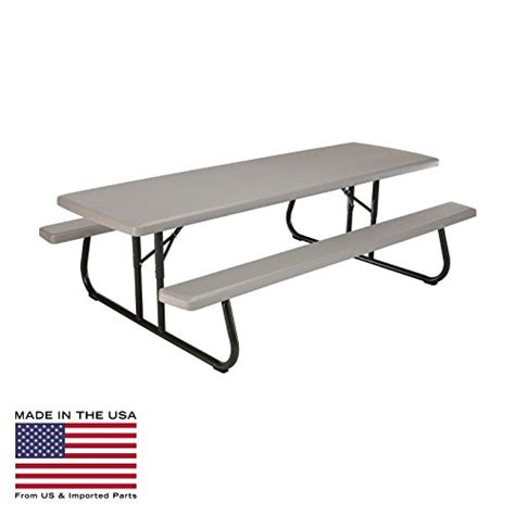 lifetime 8 ft table lifetime products 8 ft folding putty picnic table farm