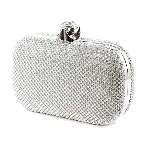 Snag A Clap Clutch Review by Accessories Silver Diamante Clutch Bag Sassy Spirit