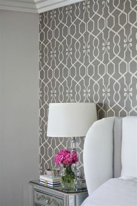 pattern accent wall ideas wallpapers focal wall and bedrooms on pinterest