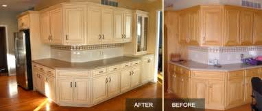 Oak Cabinets Refinished Before And After Golden Oak Cupboards Refinishing Ask Home Design