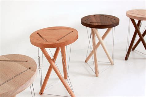 On A Stool by Sam Weller S Snelson Stool Without Any Or Nail