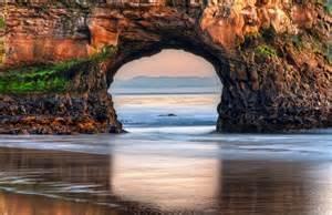 Beach ocean dawn rock united states california big sur usa state