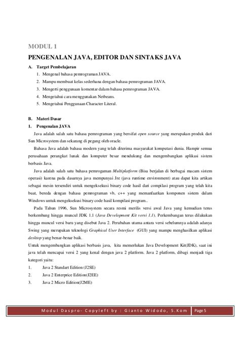 Dasar Pemrograman 2 Implementasi Menggunakan Java C Matlab modul praktikum dasar dasar pemrograman java