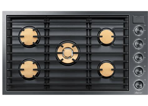 Dacor 36 Inch Gas Cooktop - dacor dtg36m955fm modernist graphite stainless 36 quot gas