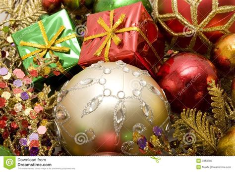 beautiful christmas ornaments royalty free stock photo