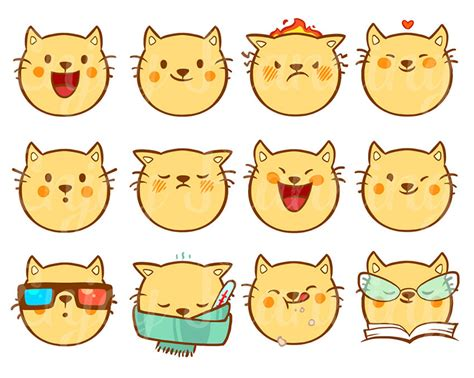 printable cat stickers printable cute cats kawaii stickers cats kawaii planner
