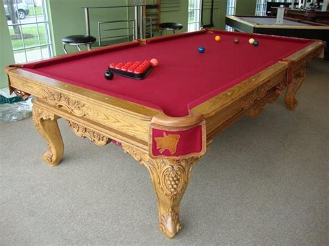 9 Pool Table by Used 9 Olhausen Louis Xiv Pool Table