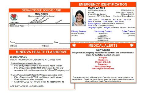 medical wallet card best professional templates