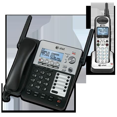 4 Phone System At T Synj Sb67138 Dect Expandable 4 Line Cordless Phone System With 3 Handsets 650530022753 Ebay