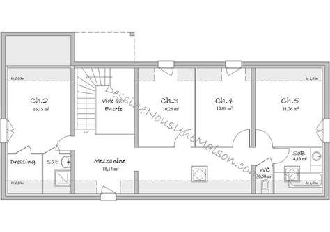 Plan De Maisons Gratuit by Plan Maison Gratuit 150m2