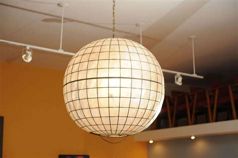 large capiz shell ceiling light at 1stdibs