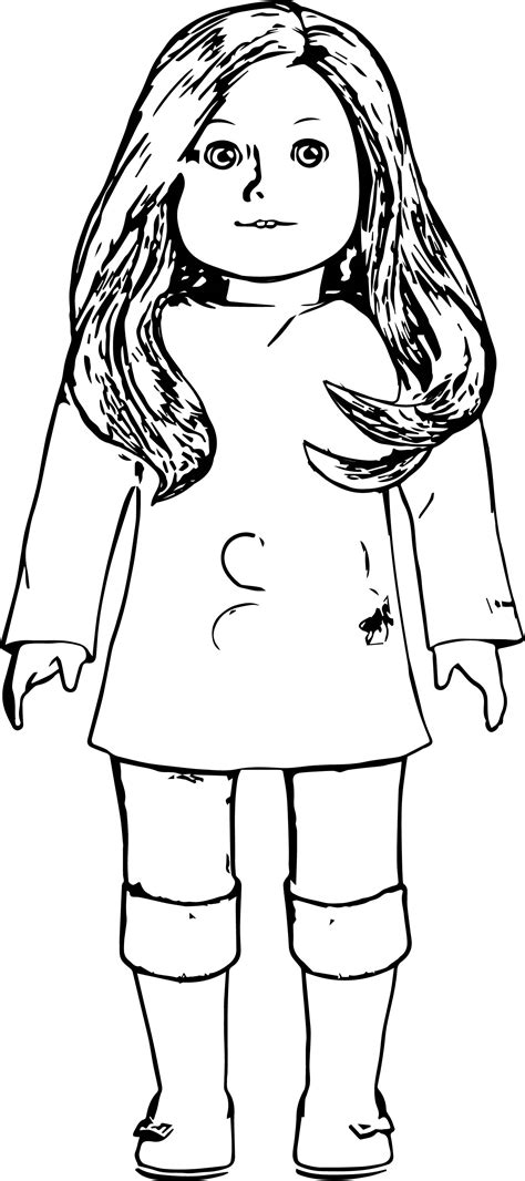free coloring pages of american girl dolls my american girl doll coloring page wecoloringpage