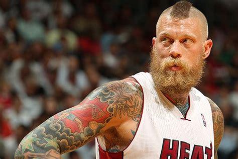 birdman head tattoo miami heat center chris andersen a k a birdman got an