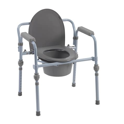 bed side commode folding bedside commode with bucket and splash guard