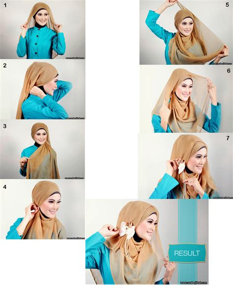 Jilbab Segiempat pin tutorial pashmina on