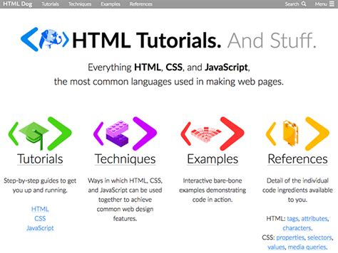 javascript tutorial html dog learn web development with these web developer courses