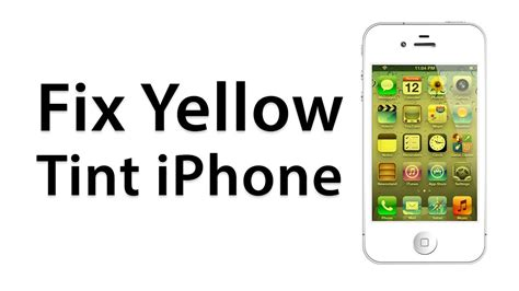 how to fix a yellow screen on an iphone calibrate screen jailbreak cydia tweak
