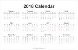 Calendar 2018 Printable Calendar Free Printable Calendar 2018