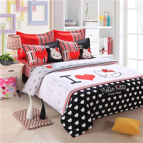 queen size comforters for kids hello kitty cartoon bed set bedding sets bed linen for
