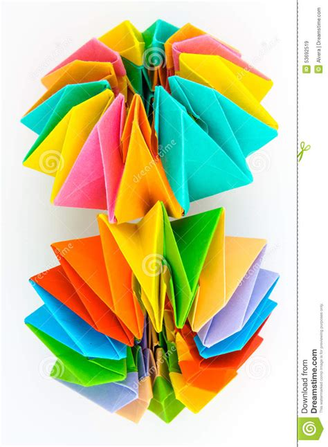 origami japanese paper folding web page origami model stock photo image 53692519