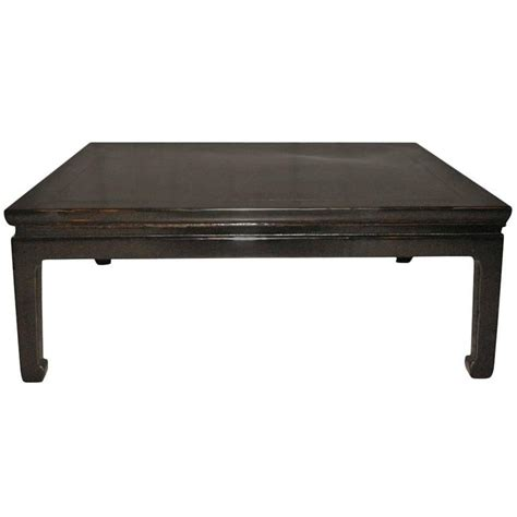 Low Black Coffee Table Square Black Lacquer Low Table At 1stdibs