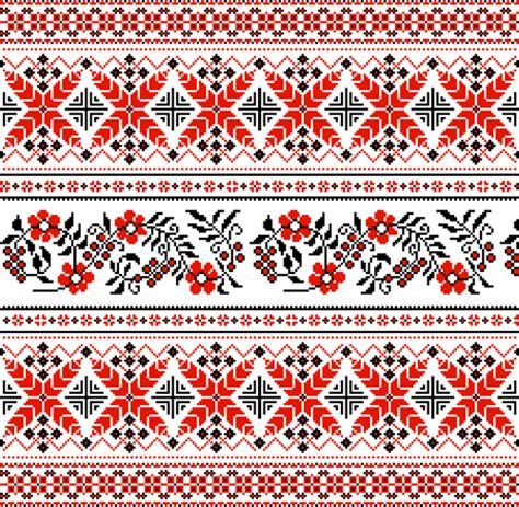 ukraine pattern vector ukraine style fabric pattern vector free vector in